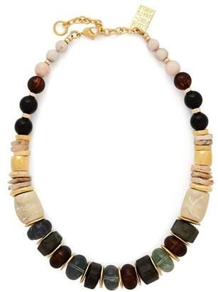 Lizzie Fortunato Landmark Gold Tone Necklace - Womens - Multi