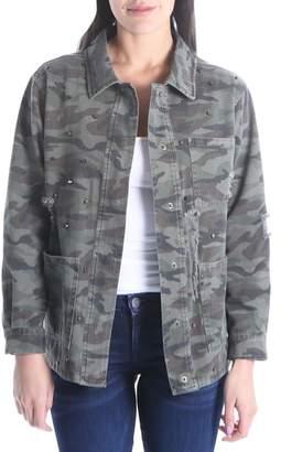 KUT from the Kloth Birdie Stud Detail Camo Cotton Jacket