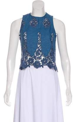 Miguelina Sleeveless Embroidered Top