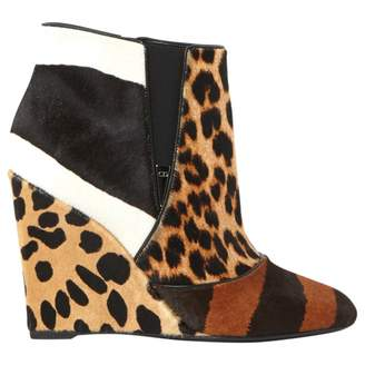Christian Dior Brown Pony-style calfskin Ankle boots
