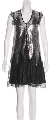 Just Cavalli Lace Knee-Length Dress w/ Tags Black Lace Knee-Length Dress w/ Tags