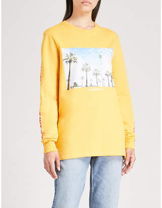 Criminal Damage Cali LS cotton-jersey top