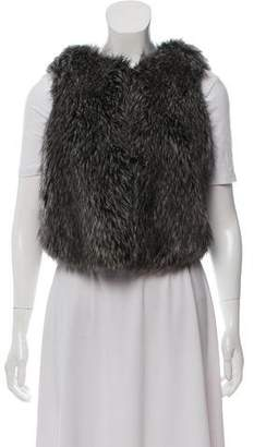 Vince Faux Fur Knit Vest