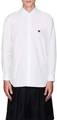 Comme des Garcons Men's Heart Cotton Poplin Shirt - White