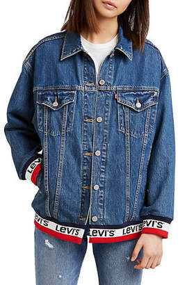 Levi's Good Sport Baggy Sport Tape Trucker Denim Jacket