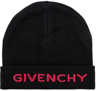 Givenchy Logo Beanie in Red | FWRD