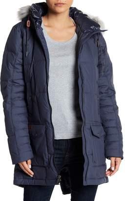 Columbia Della Fall Detachable Faux Fur Trimmed Hooded Jacket