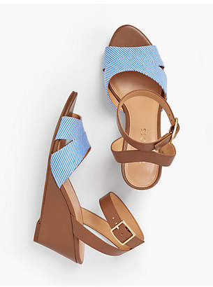 Talbots Vivian Wedge Sandals - Cotton
