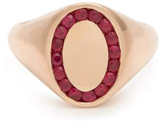 JESSICA BIALES Ruby & pink-gold ring
