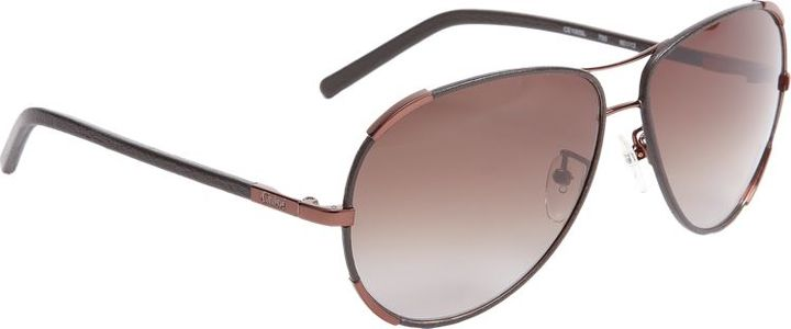 Chloé Women's Leather Wrapped Aviator Sunglasses-Colorless