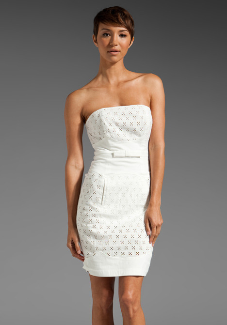 Plenty by Tracy Reese Scalloped Strapless Dress