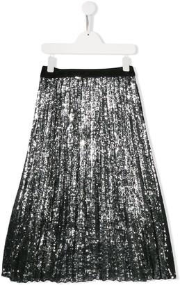 MSGM Kids sequinned tulle skirt