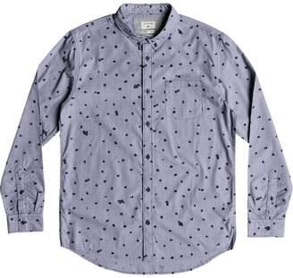 Quiksilver Valley Groove Print Long-Sleeve Shirt - Men's