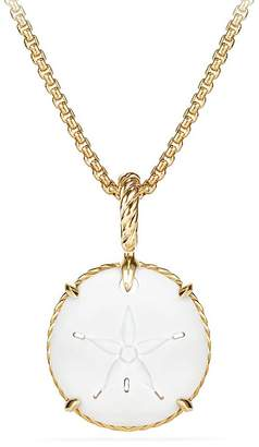 David Yurman Sand Dollar Amulet with 18K Gold