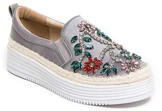 Roxy Ramarim Foxy Floral Rhinestone Slip-On Sneaker