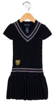 Ralph Lauren Girls' Cable Knit Sweater Dress