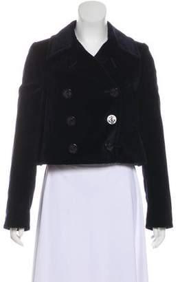 Alexander McQueen Velvet Double-Breasted Jacket