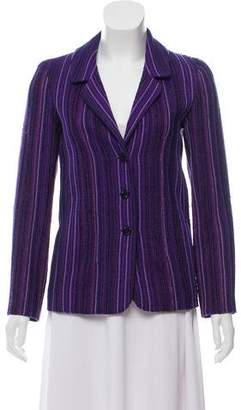 Chanel Tweed Notch-Lapel Blazer