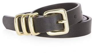 Topshop PU Skinny Triple Keeper Belt
