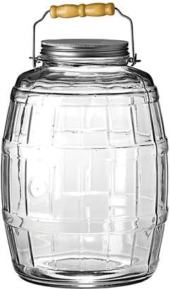 Anchor Hocking 2.5-Gallon Barrel Jar with Brushed Metal Lid