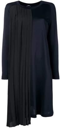 Jil Sander Navy mid-length contrasting dress