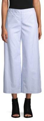 ADAM by Adam Lippes Striped Cotton Cropped Pants
