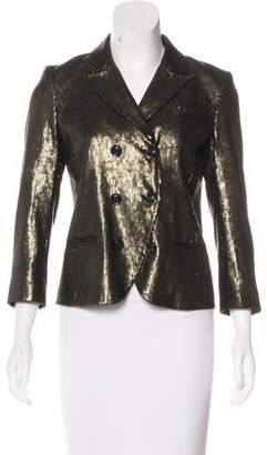 Diane von Furstenberg Embellished Double-Breasted Blazer