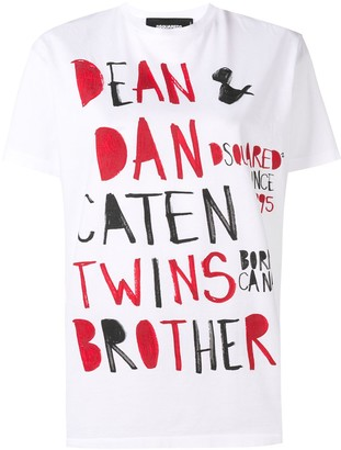 DSQUARED2 graphic slogan T-shirt