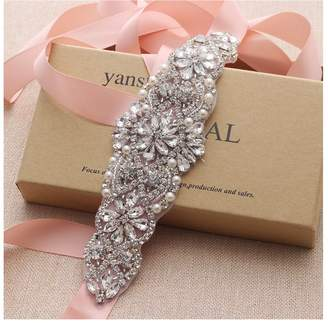 Yanstar Bridal Wedding Belts Sashes Handmade Beads Belt For Bridal Bridesmaid Dresses
