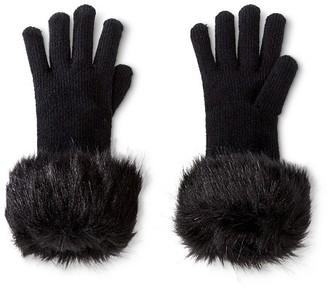 Merona Women's Glove with Fur Trim Ebony  - Merona $14.99 thestylecure.com