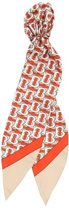 Burberry Tb Monogram Print Silk Headband