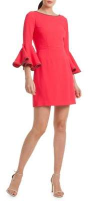 Trina Turk Casa Mexico Bromely Bell-Sleeve Fit-&-Flare Dress