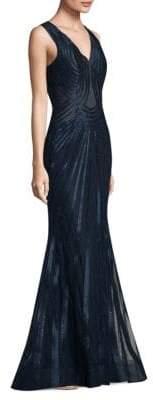 Alberto Makali Embellished Mermaid Gown