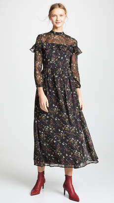 BB Dakota Floral Attire Chiffon Dress