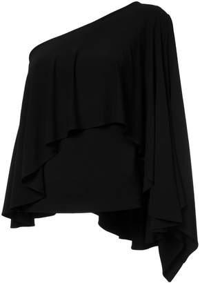 Plein Sud Jeans asymmetric ruffle blouse