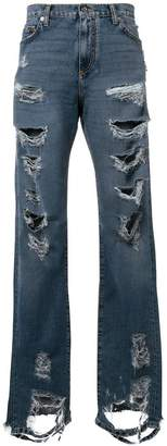 Faith Connexion distressed straight jeans