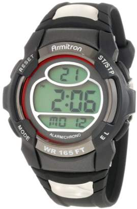 Armitron Sport Men's 408089RED Chronograph Round and Red Digital Watch