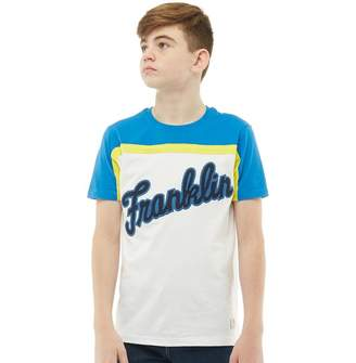 Franklin & Marshall Junior Boys Logo T-Shirt Bright White