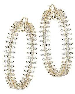 Adriana Orsini Women's Tivoli 18K Gold-Plated Spike Hoop Earing