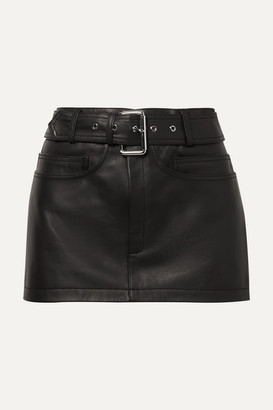 1a863548f56 Alexander Wang Belted Leather Mini Skirt - Black