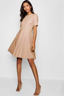 boohoo Tall Short Sleeve Skater Dress