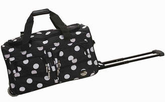 Rockland 22 Rolling Duffel Bag-Polka Dots