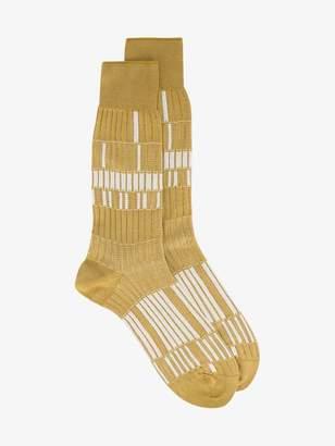Ayame yellow electro socks