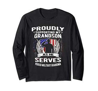 Support My Grandson As He Serves - Military Grandma Shirt