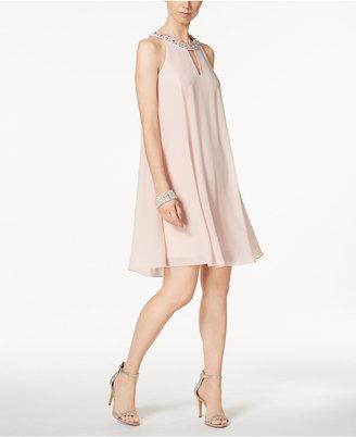 Jessica Howard Embellished Keyhole Halter Dress $109 thestylecure.com