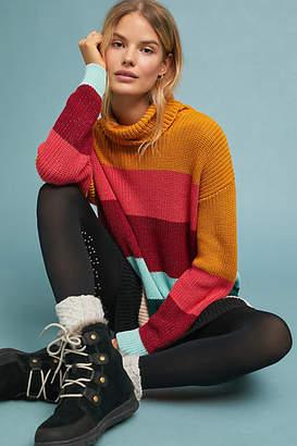 Farm Rio Boldly Striped Sweater Dress