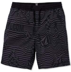 Volcom Big Boys Classic-Fit Stretch Stripe Logo Shorts