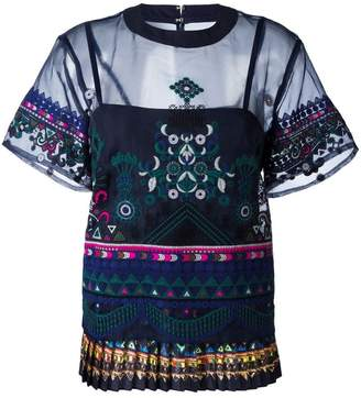 Sacai tribal lace top
