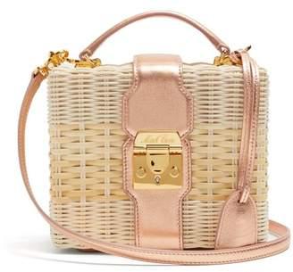 Mark Cross - X Hvn Harley Small Wicker Basket Bag - Womens - Copper