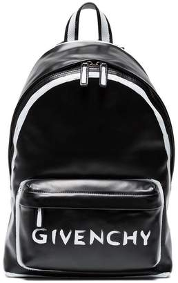 Givenchy Black Graffiti logo leather backpack